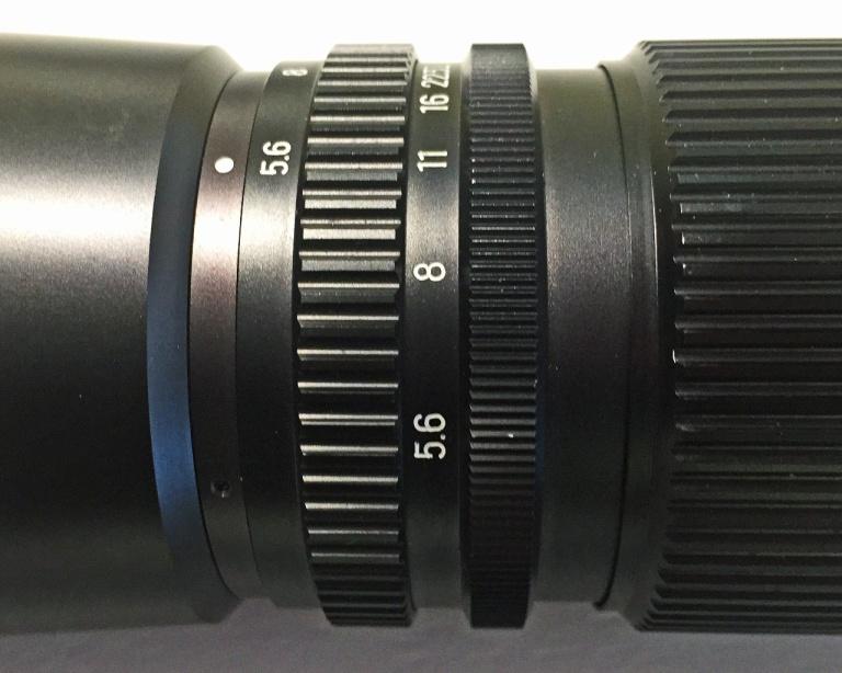 Preset Aperture Ring on the Tele Rokkor-QD 300mm f/5.6
